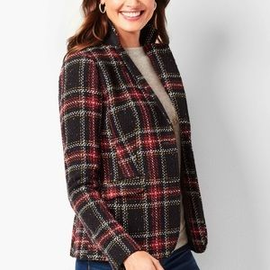 EUC Talbots  Woman Plaid Tartan Wool blazer